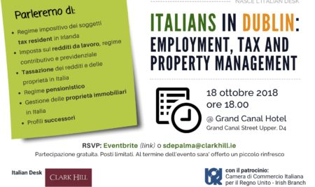 ITALIANS in DUBLIN – nasce l'Italian Desk